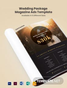 Free Wedding Package Magazine Ads Template