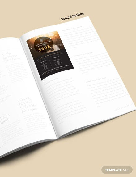 Wedding Package Magazine Ads Template