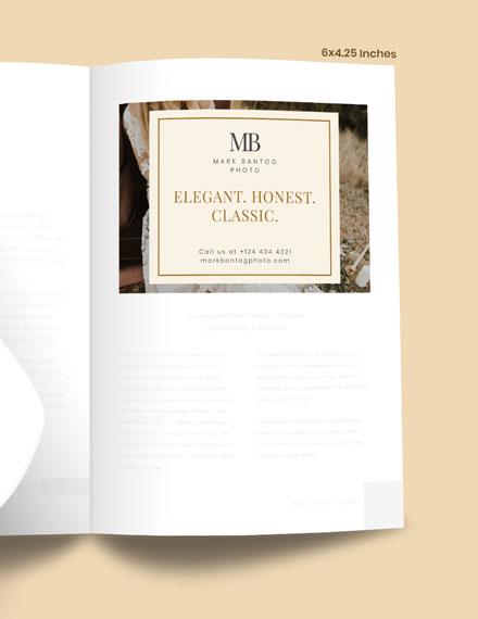 Sample Wedding Photographer Magazine Ads