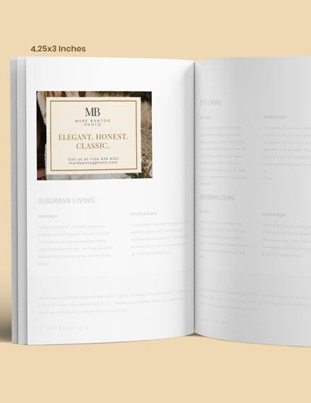 Simple Wedding Photographer Magazine Ads
