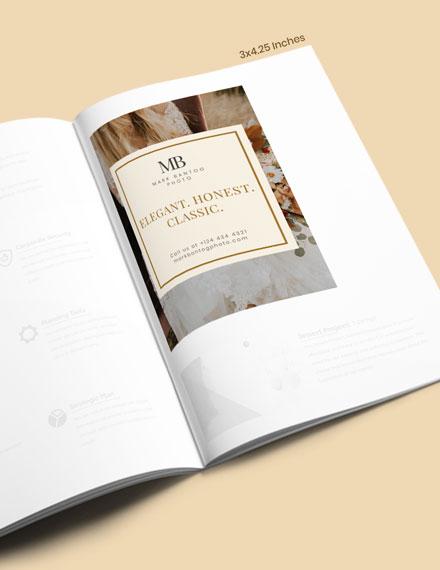 Wedding Photographer Magazine Ads Template