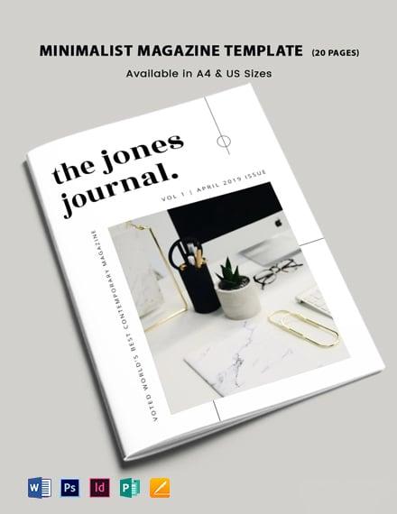 Free Minimalist Magazine Template