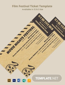 Film Festival Ticket Template