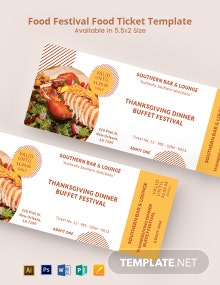 Food Festival Food Ticket Template