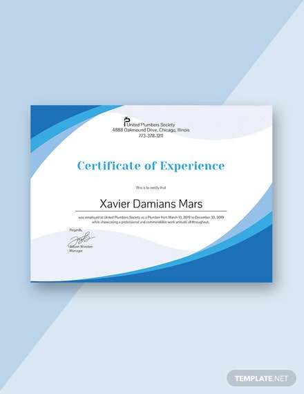 free nursing experience certificate template download 200