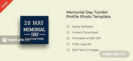 Memorial Day Tumblr Profile Photo Template