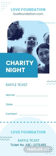 Fundraiser Raffle Ticket Template