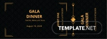 Gala Dinner Ticket Template