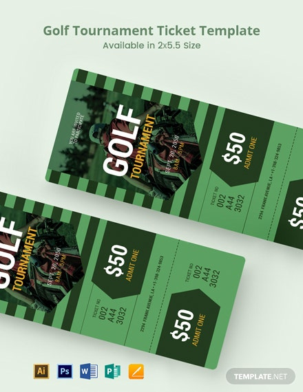 Golf Tournament Ticket Template