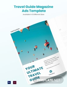 Travel Guide Magazine Ads Template