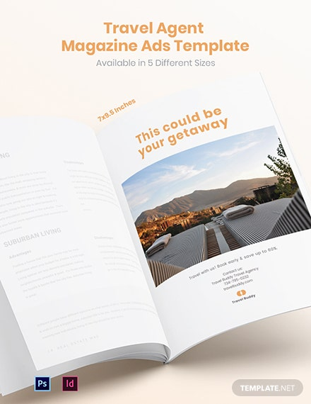 Free Travel Agent Magazine Ads Template