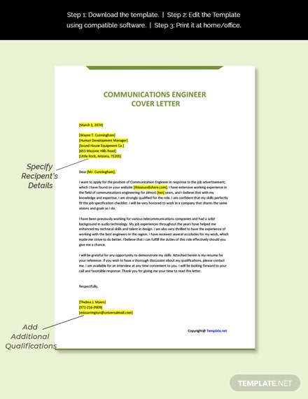 Communication Engineer Template