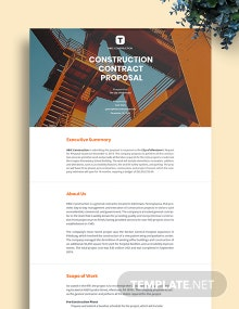 Free Printable Construction Proposal Template