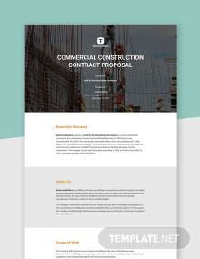 Free Basic Construction Proposal Template