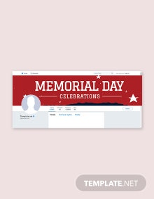 Free Memorial Day Twitter Header Cover Template