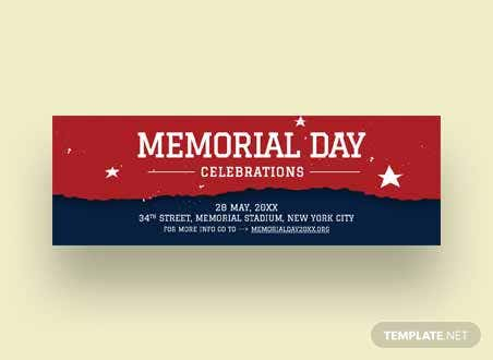 Memorial Day Twitter Header Cover Template