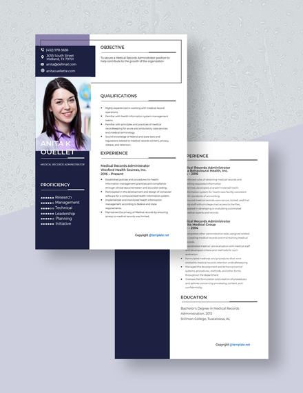 Medical Records Administrator Resume Download