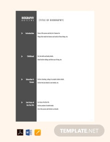 Free Character Biography Outline Template