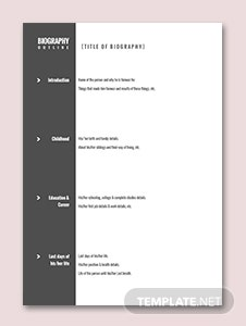 Character Biography Outline Template