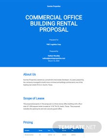 Commercial Rental Proposal Template