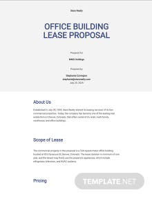 Commercial Property Proposal Template