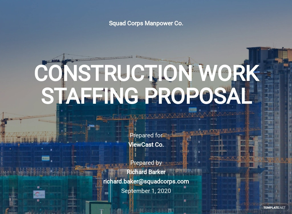 Contracting Proposal Template