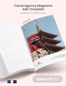 Free Travel Agency Magazine Ads Template