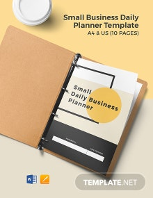 Small Business Daily Planner Template