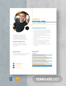 National Security Advisor Resume Template