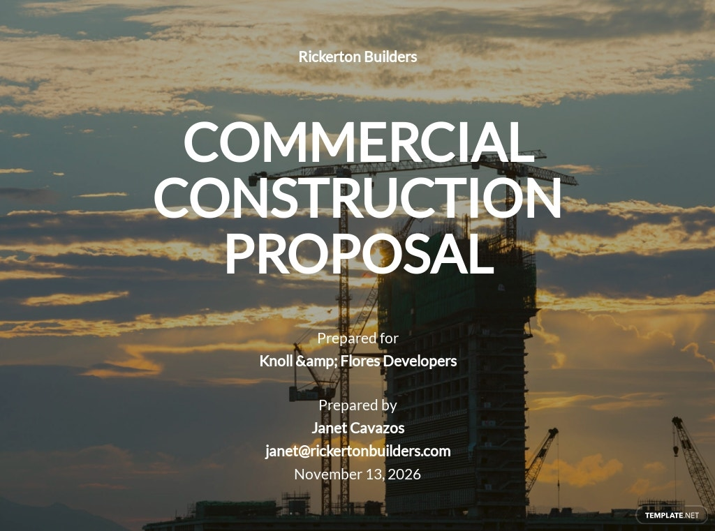 Commercial Construction Proposal Template