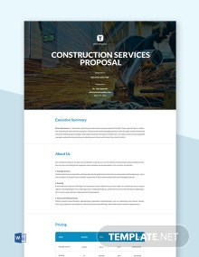 Construction Services Proposal Template