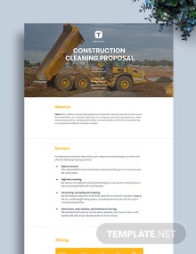 Construction Cleaning Proposal Template