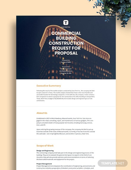 Construction Request for Proposal Template