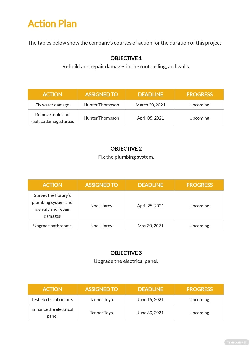 Construction Company Proposal Template [Free PDF] - Google Docs, Word, Apple Pages