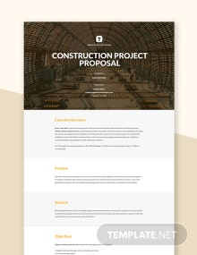 Construction Company Proposal Template