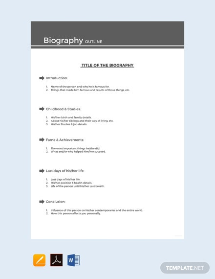 Free-Sample-Biography-Outline-Template