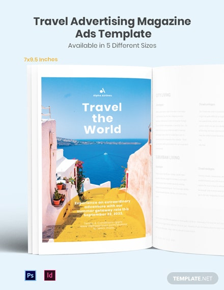 Free Travel Advertising Magazine Ads Template