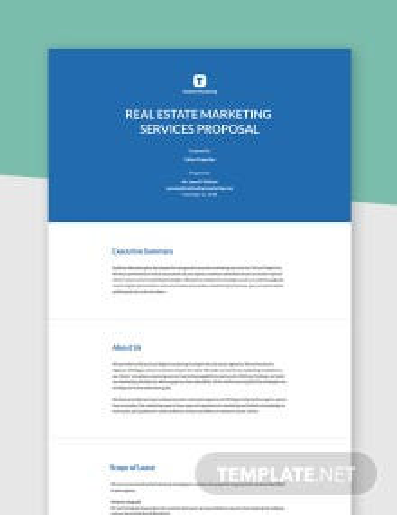 Real Estate Marketing Proposal Template