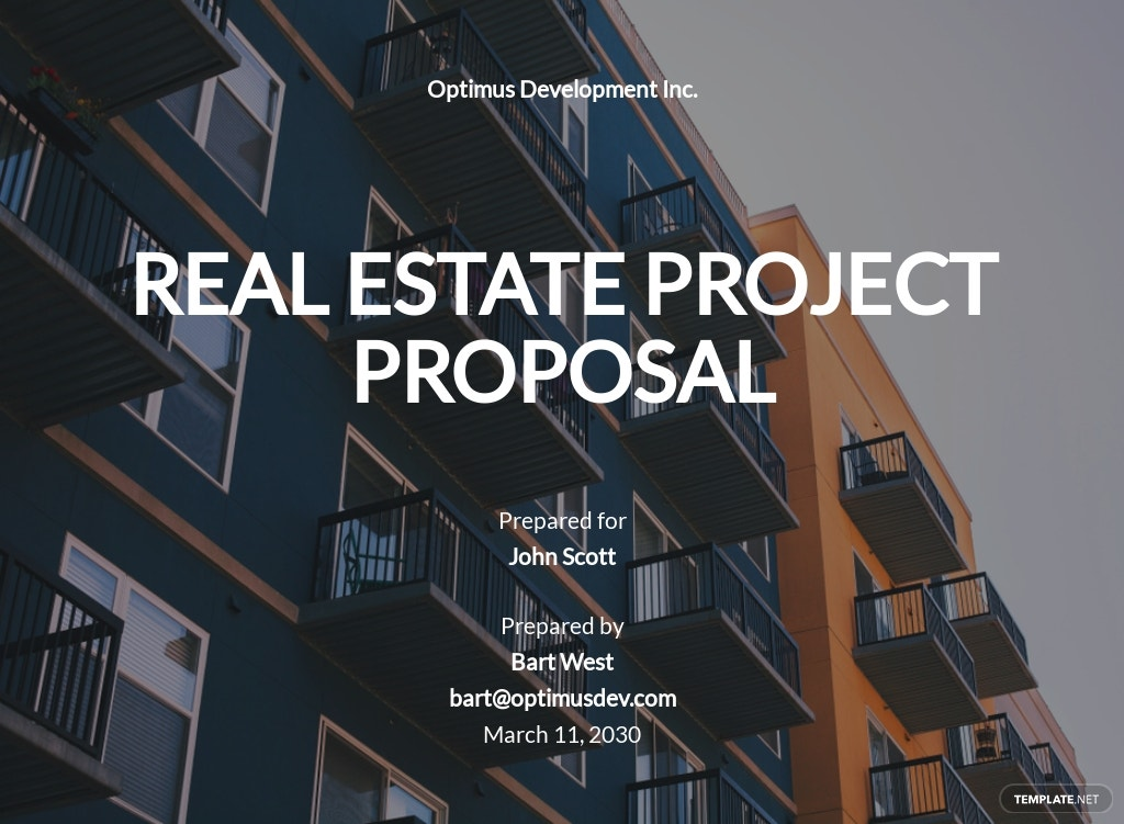 Real Estate Project Proposal Template