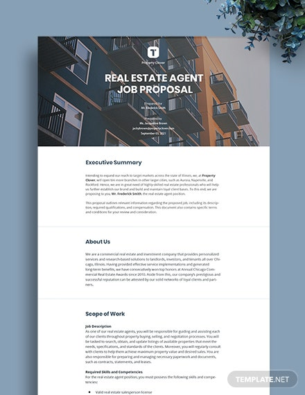 Real Estate Agent Proposal Template