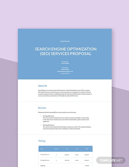 SEO Services Proposal Template