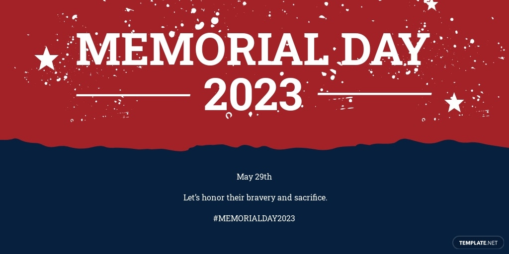 Free Memorial Day Twitter Post Template