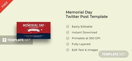 Memorial Day Twitter Post Template