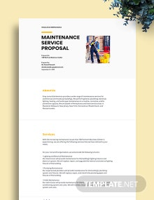 Maintenance Services Proposal Template