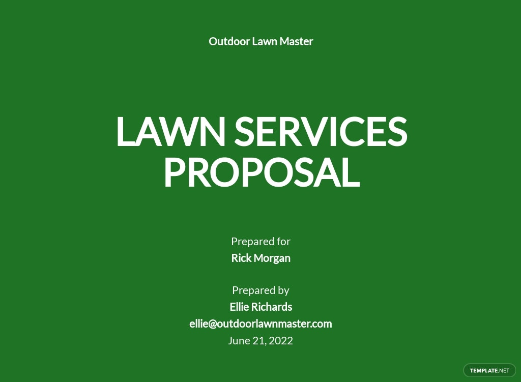 Lawn Services Proposal Template