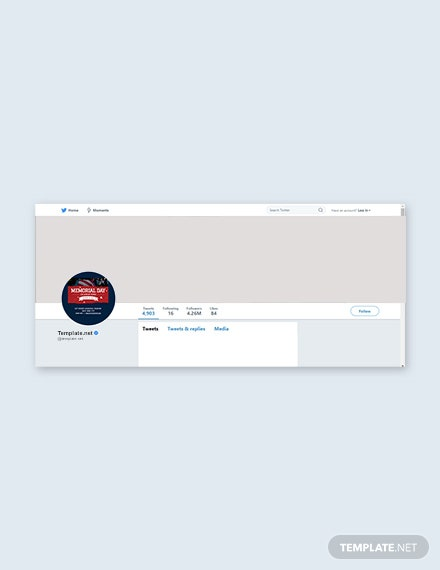 Free Memorial Day Twitter Profile Photo Template