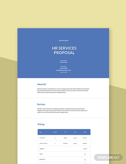 HR Services Proposal Template