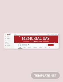 Free Memorial Day Youtube Channel Cover Template