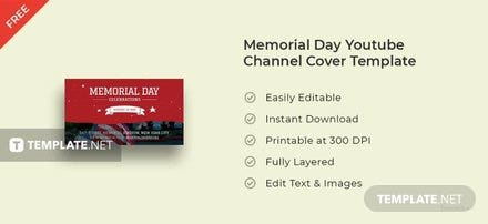 Memorial Day Youtube Channel Cover Template