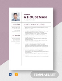 IT Account Manager Resume Template